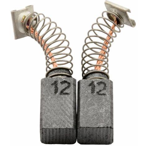 Balais de Charbon pour Hitachi Marteau DH 28PCY - 6,5x7,5x12mm