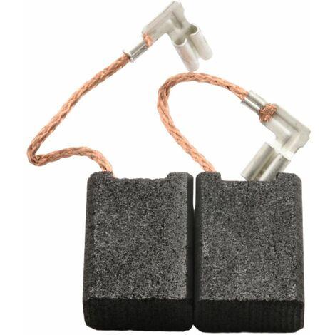 Balais de Charbon pour Metabo Aspirateur ASR 1263 - 6,3x12,5x18mm
