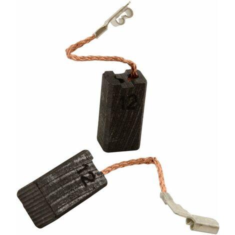 Balais de Charbon pour Metabo Rabot HO4382 - 6,35x8x15mm - Remplace 34301072