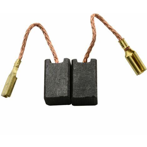Balais de Charbon pour Rupes Ponceuse BR51AN - 6x8x13mm - Remplace 47105