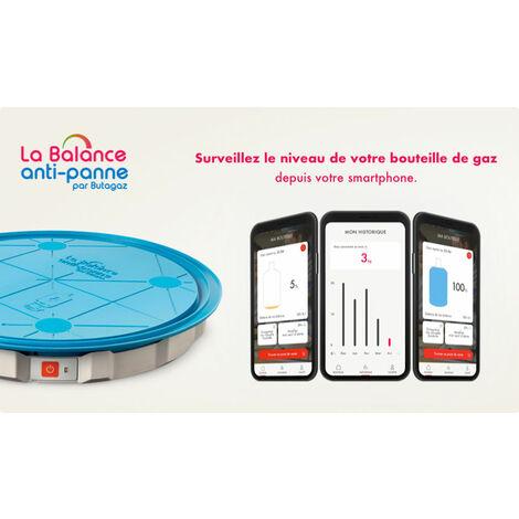 Balance Anti-panne par Butagaz Suivi du niveau de gaz sur application smartphone pour bouteilles butane et propane