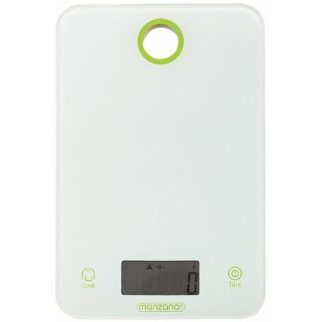 Balance de cuisine 8kg digitale avec écran LCD blanc balance postale verre trempée 2 piles incluses plusieurs unités de mesure