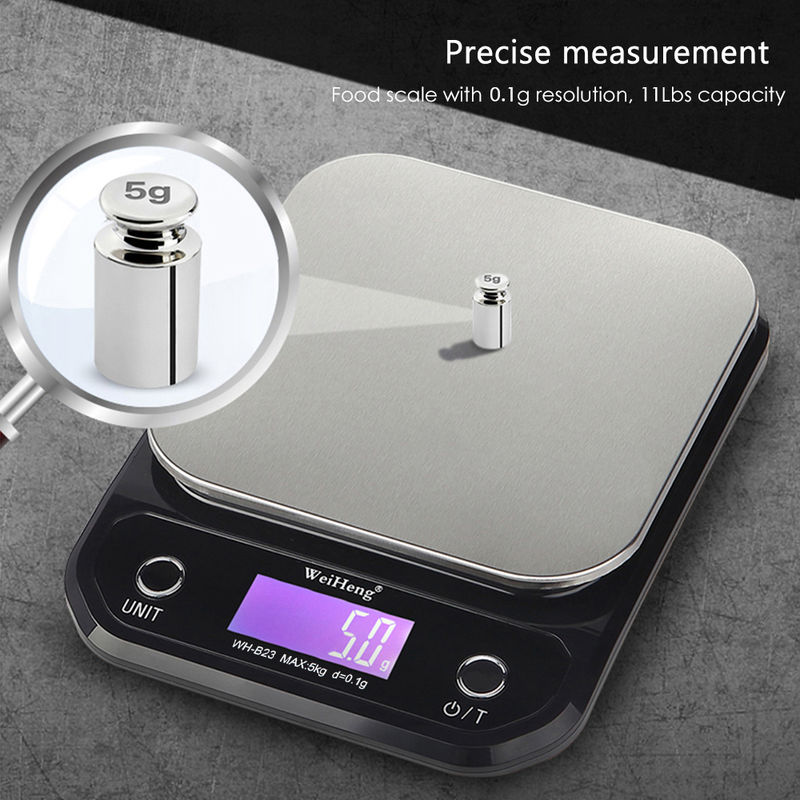 Balance De Cuisine Numerique 5 Kg 11 Lb Haute Precision 0 1 G