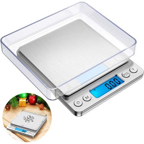"""main image of """"Balance de cuisine numérique, petite balance de bijoux 500g / 0.01g, balances alimentaires poids numérique gramme et oz, balance numérique gramme avec fonction LCD / tare pour bijoux"""""""