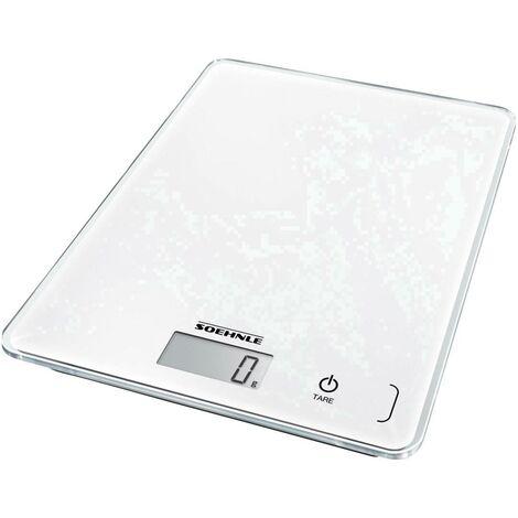 Balance de cuisine numérique Soehnle KWD Page Compact 300 61501 avec fixation murale Plage de pesée (max.)=5 kg blanc 1 pc(s) D412161