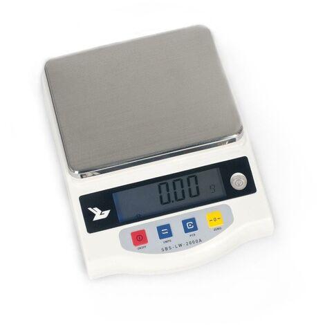 Balance de précision digitale professionnelle cuisine laboratoire 2.000g / 0.01g - LCD - Jaune