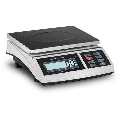 Balance de table cuisine pèse aliment - 3 kg / 0,1 g - 21 x 27 cm - LCD