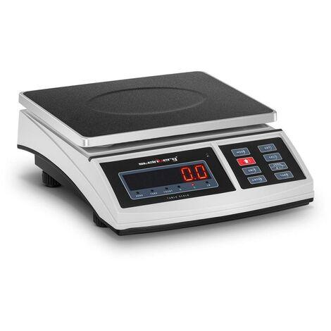Balance de table cuisine pèse aliment - 3 kg / 0,1 g - 21 x 27 cm - LED