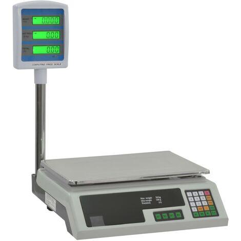 Balance Électronique Plate-forme Pesée LCD Colis 30 kg Peson Numérique