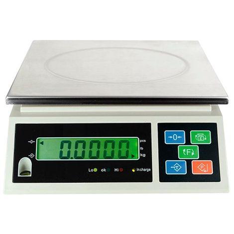 Balance industrielle LCD 15 Kg x 0,5 g. Usage interne - LB5012 - D-Work - -