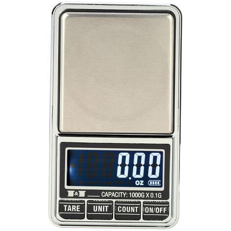 Balance Numerique, Balance De Poche Electronique Pour Bijoux, 1000 G * 0,1 G