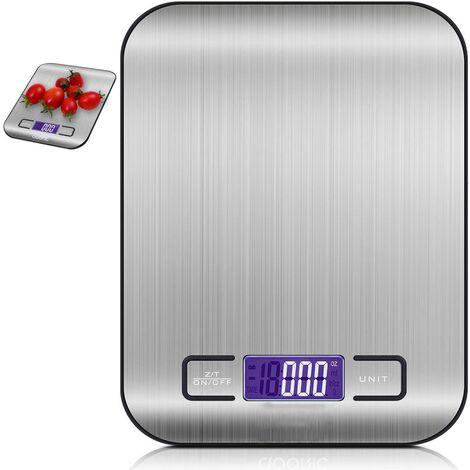 Balance numérique Balance électronique professionnelle, balance de cuisine avec écran LCD Balance alimentaire en acier inoxydable