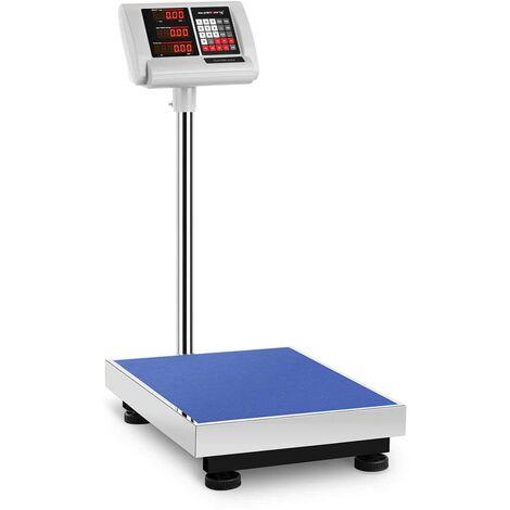 Balance Plateforme Pèse-Colis Professionnel 300 Kg ±50 G 40X50cm Autonomie 10 H