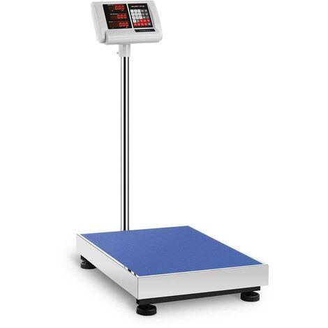 Balance Plateforme Pèse-Colis Professionnel 300 Kg ±50 G 45X60 Cm Autonomie 10 H