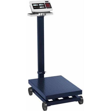 Balance Plateforme Pèse-Colis Professionnel Industriel Acier LCD 600 kg ±100g