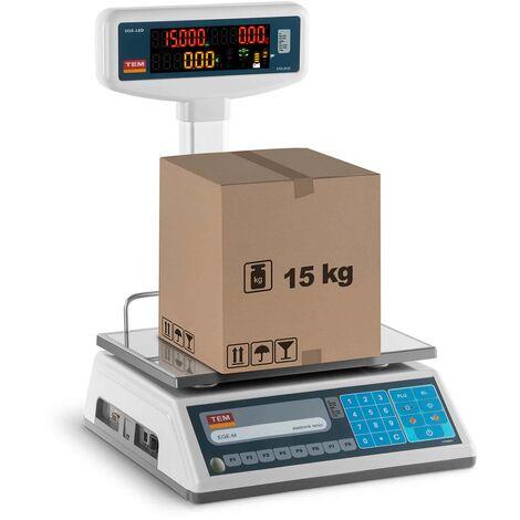 Balance Poids-Prix Balance Pour Commerce Marché Homologuée 15 Kg ± 5 G 23X30 Cm