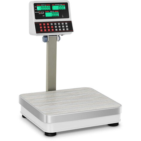 Balance Poids-Prix Sbs-Pw-60/5 100 Kg 10 G Plateau Inox 30X35 Cm 7 Cellules