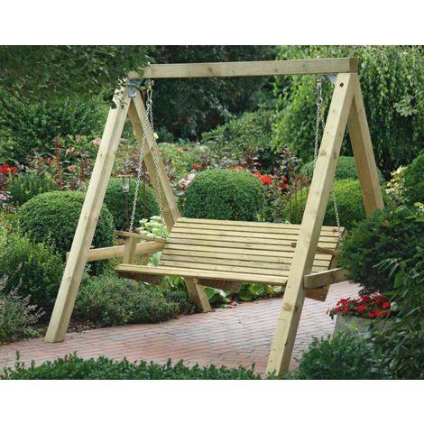 Balancelle de jardin en bois massif