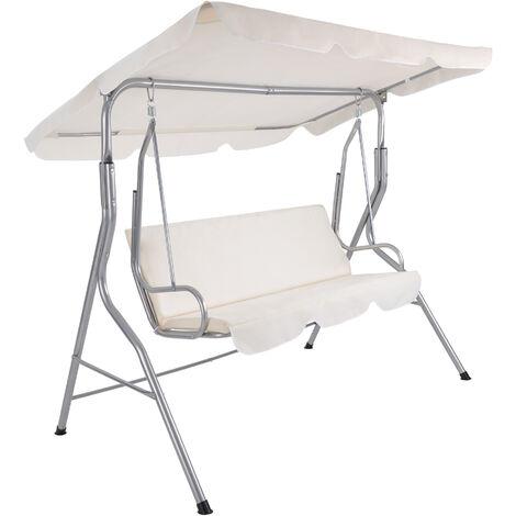 Balancín - balancín para jardín de acero, columpio de jardín con techo de lona de poliéster, sillón balancín exterior para niños