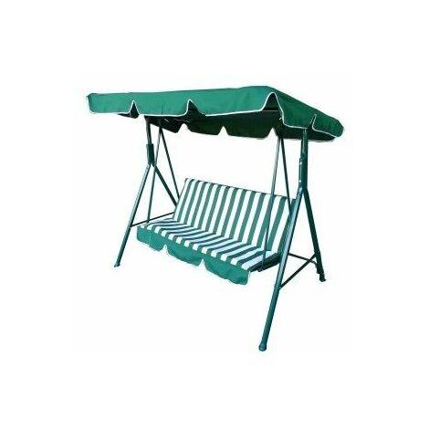 Balancin Jardin 170X110X153Cm 3P Verde/Blanco Acero Natuur