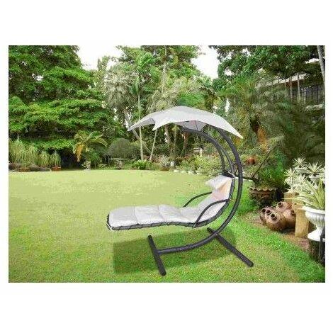 Balancin Jardin 212X133X192Cm 1P Bei Acero/Textil Natuur
