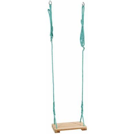 Balancoire avec assise en bois - Marron