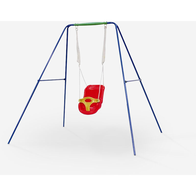 Balançoire de jardin pour enfants avec siège en plastiqueT-bar Dado