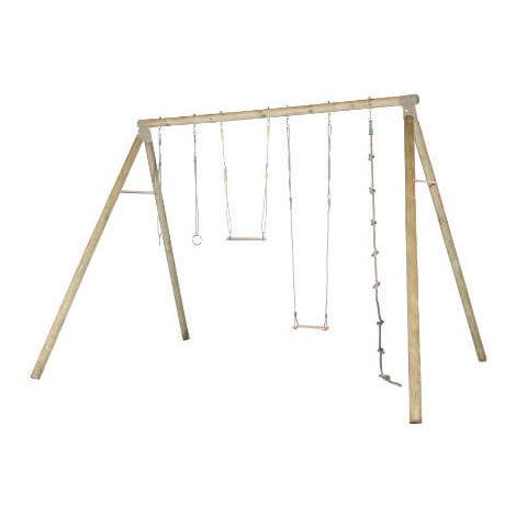 Balançoire en bois 4 agrès ado/adultes - modèle OLIVER - Balançoire seule