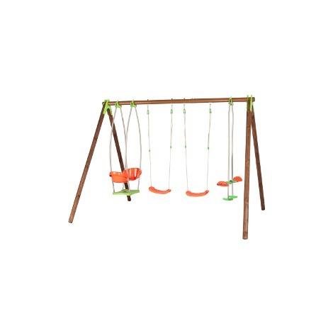 Balançoire en bois/métal TECHWOOD PREMIUM - BONGO - Amca - Balançoire seule