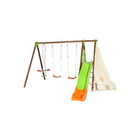 Balançoire en bois/métal TECHWOOD PREMIUM - NAVAJO - Trigano - Balançoire seule