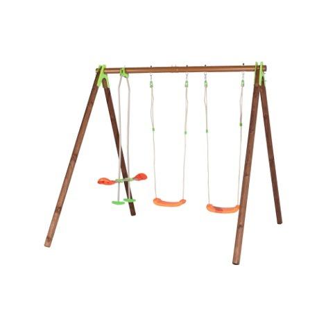 Balançoire en bois/métal TECHWOOD PREMIUM - YUKO - Trigano - Balançoire seule