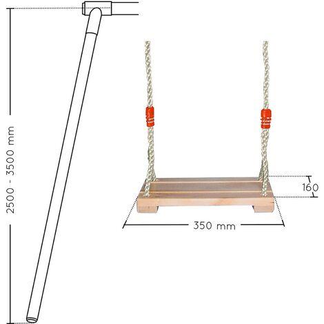 Balançoire en bois réglable 2.50m / 3.50m - Soulet