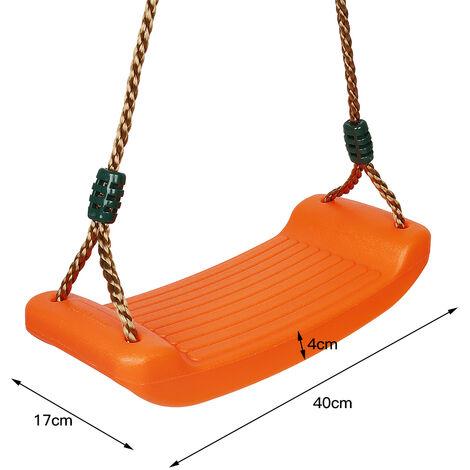 Balançoire en Plastique,Chargé Maximum 150kg,ORANGE, 40*17*4cm