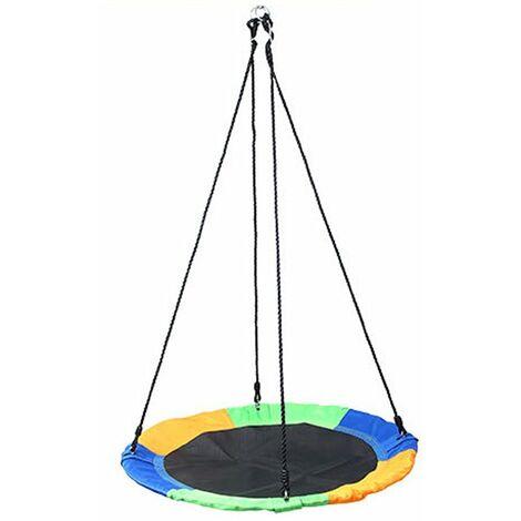 Balancoire Exterieure Pour Enfants De 100 Cm, Balancoire En Tissu Oxford 900D, Balancoire De Nid D'Arbre Rotative En Forme D'Ovni