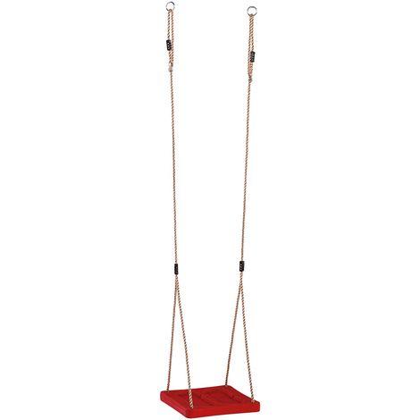 Balançoire pieds en plastique rouge, 357 x 355 x 40 mm