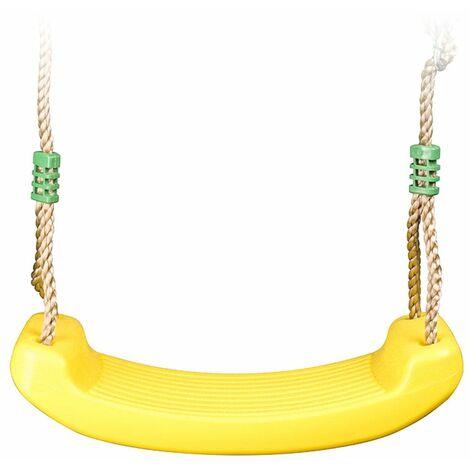Balançoire plastique jaune pour portique 2 m - 2,5 m Trigano