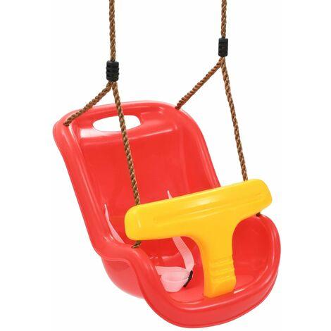 Balançoire pour bébé avec ceinture de sécurité PP Rouge