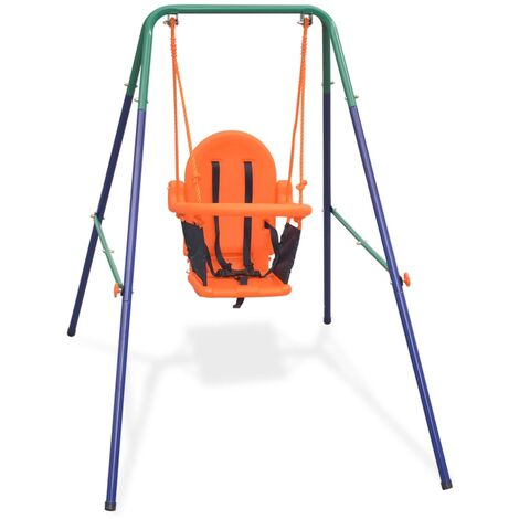 Balançoire pour enfants avec harnais de sécurité Orange