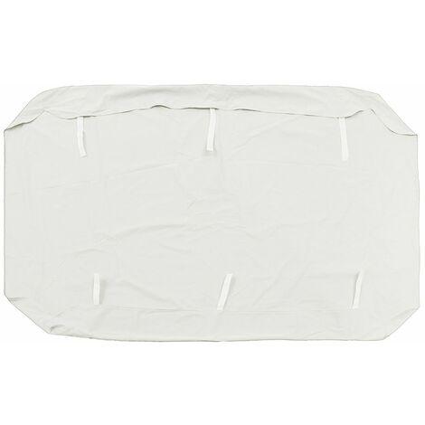 Balan?oire Auvent Housse Hamac Swing Chaise Siège Couverture Anti UV Imperméabilisé Blanc 3 Place