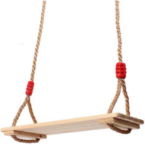 Balan??Oire Wooden Seat 40X16X1,2Cm Birch Toy Outdoor Games Garden Child Adult 120Kg Max. Hasaki