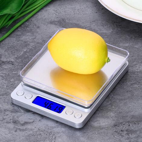Balanza electronica de cocina con 2 bandejas, 500 / 0.01g