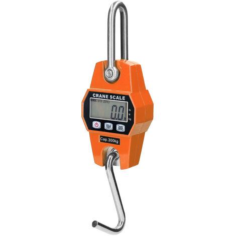 Balanza electronica portatil para trabajo pesado, grua con gancho, 300 kg