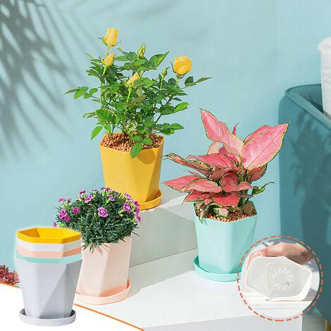 Balcon Ménage En Plastique Pot De Fleur Résine Nordique Épaissir Grand Pot De Fleur Jaune - Jaune