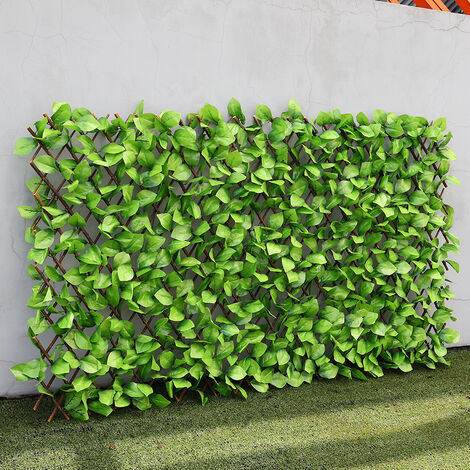 Balcony Artificial Apple Leaf Hedge Privacy Screening Fence