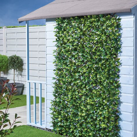 Balcony Artificial Holly Leaf Hedge Privacy Screening Fence