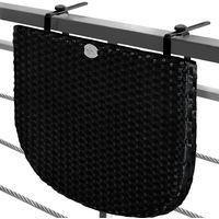 Balcony Hanging Table Space Saving Foldable Height Adjustable Black