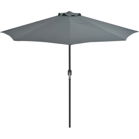 Balcony Parasol with Aluminium Pole Anthracite 270x135 cm Half