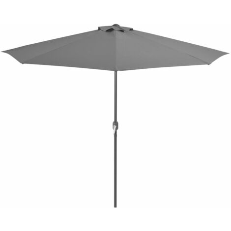 Balcony Parasol with Aluminium Pole Anthracite 300x150 cm Half