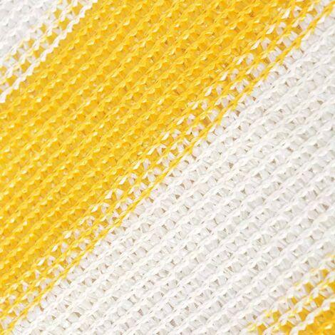 Balcony Screen HDPE 75x600 cm Yellow and White