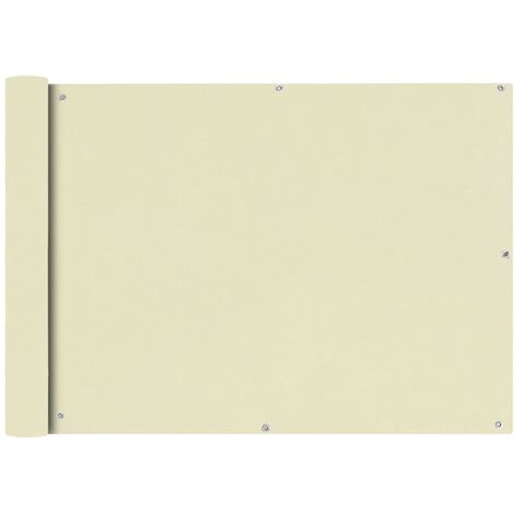 Balcony Screen Oxford Fabric 75x400 cm Cream - Cream